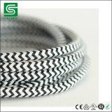 Меди шнура хлопка тканья VDE/UL провод ткани Braided электрический