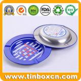 携帯用小型の煙るアクセサリの小さい円形の金属の錫の灰皿
