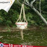 マクラメのプラントハンガーの綿ロープの編みこみの植木鉢のホールダー