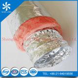 Aislante de la fibra de vidrio del conducto de Alumunum del papel de aluminio