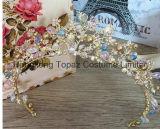 crown Wedding Hair Accessories 신부 크라운 꽃 신부 머리 보석 수정같은 Tiara 공주 머리 보석 (EC15)