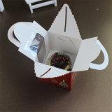 Diseño del rectángulo de torta del papel de Brown Kraft con la ventana, pequeños rectángulos de la panadería del papel de Kraft
