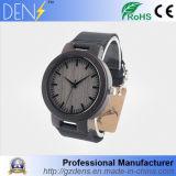 Il quarzo di legno dell'orologio di lusso degli uomini guarda la vigilanza del legno