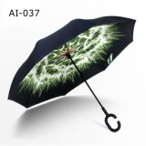 Подгонянный перевернутый обратный зонтик автомобилей Handfree ручки c для выдвиженческого подарка