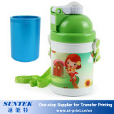 бутылка воды малышей детей пробела печатание сублимации 400ml пластичная