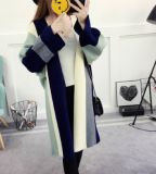 Form-Damen strickten lang Wolljacke-Überbrückungsdraht-Frauen-Strickjacke-Mantel