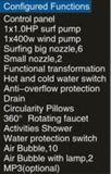 1500mm Conner Jacuzzi con LED de cascada y cojín de masaje (EN-6011-3)