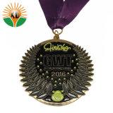 고품질은 이동에 의하여 인쇄된 방아끈을%s 가진 사기질 금속 운영하는 메달을 그만두었다