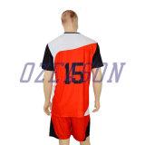 Nice le football noir rayé rouge en gros de bonne qualité Jersey