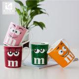 taza de té de cerámica sonriente de China de la impresión de la cara 380ml