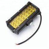 Feu de travail 72W Tri-Row 24 Lumière LED jaune Bar barre LED LAMPE DE CONDUITE HORS ROUTE 4X4 4WD Camionnette LED 12 V Barre d'éclairage de faisceau