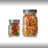 Amostras gratuitas jarra de vidro para armazenamento de alimentos com tampa com rosca