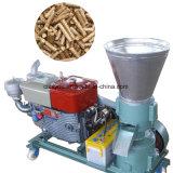 平らなディーゼルモーターは木製の餌の出版物の造粒機機械を停止する