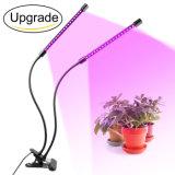 Il LED coltiva le lampade che chiare della pianta Flowering del giardino il morsetto flessibile LED si sviluppa chiaro con la doppia lampada