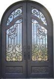 Полностью из кованого железа с арками двери стальные конструкции заслонки на решетке