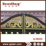 別荘のための自動アルミニウム庭の入口の機密保護の錬鉄のゲート