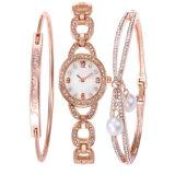 Het Horloge van de Legering van Ldies van de manier met Veel Polshorloge van het Kwarts van Diamanten