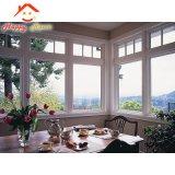 Finestra di alluminio di vetro dell'alluminio del doppio Closed su ordinazione di ventilazione/