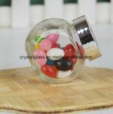 Comida redonda de vidro plano Spice Jar e Utilização da Cozinha
