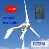 400 W для домашнего использования ветровой турбины генератора мельница новых энергетических