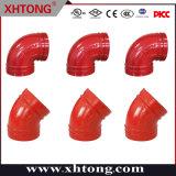화재 싸움 시스템을%s FM/UL/Ce 승인되는 연성이 있는 철 홈이 있는 팔꿈치