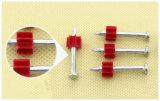 De Spruit van het staal nagelt Gedreven Speld met Rode Buffer