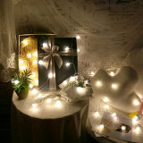 Cono de pino cadena Solar LED luces de Navidad Decoración de Navidad