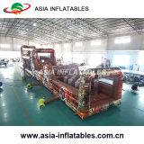 Estilo de camuflagem gigante de PVC obstáculos inflável para jogos ao ar livre
