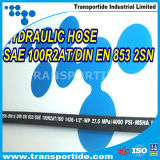 Boyau hydraulique tressé de fil d'en 853 2sn SAE 100r2at avec le bon prix