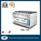 Intervallo di gas di Burer dell'acciaio inossidabile 8 con il forno di gas (HGR-78G)