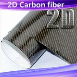2D Zsmell Vinilo de fibra de carbono para coche decoración corporal 1,52*30m con burbujas de aire sin