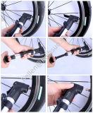 Bomba manual de aleación de aluminio mini bicicletas de neumático de la bicicleta