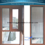 Fenêtre en aluminium avec la buse et l'obturateur et de verre trempé
