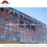 SGS/ISO 증명서를 가진 착색된 유약 유리 건물