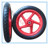 Mousse de PU de 14 pouces plat de roue libre roue de bicyclette