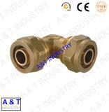 Части штуцера трубы трубопровода фабрики латунные с высоким качеством