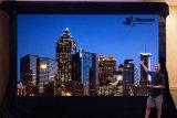 Écran de rideau vidéo portatif flexible à LED pour publicité mobile