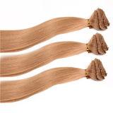 [7ا] رخيصة 100% [هومن هير] [بلوند] مشبك في شعر إمتدادات
