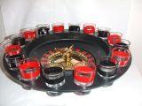 16 tiros de cristal que beben el sistema del juego de la ruleta