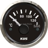 Compteur de mesure de température d'eau de 2 po 52 mm avec capteur de température 12V 24V avec rétro-éclairage