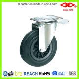 Schwarzes Gummifußrollen-Rad (P101-31C150X40S)