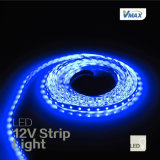 12V tira flexible de LED de alta calidad (12v-5050-60-IP65 azul).