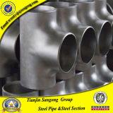 위조된 까만 탄소 강관 Sgp 또는 Std ASTM Wpb 234 티