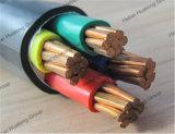 кабель силового кабеля сердечника 0.6/1kv Cu/PVC/PVC 5X25mm2 5 электрический