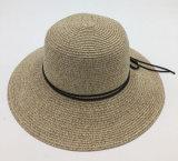 تبن [سون] قبعة مع نساء فصل صيف شاطئ ليّنة يوسع حافة [ش054]