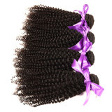 Волосы Slove Weave человеческих волос бразильского Kinky курчавого Weave волос Remy Afro Weave 4PCS/Lot волос Remy Kinky курчавого естественные черные волнистые