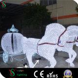 2018 Cavalo escultura de Natal para luzes de decoração exterior