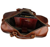 Sacos de Duffel de couro reais da bagagem do trole do estilo do vintage da boa qualidade