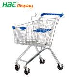 210L Supermercado Galvanizado Lado Carrinho de Compras