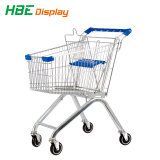 210L оцинкованных супермаркет стороны торгового тележки